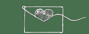 Illustrasjon av et kjærlighetsbrev.