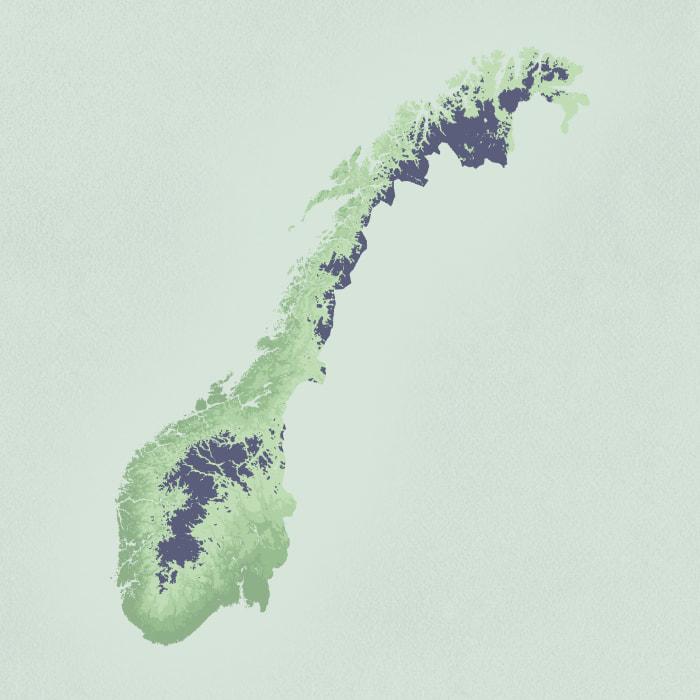 Kart med skoggrense i 2013
